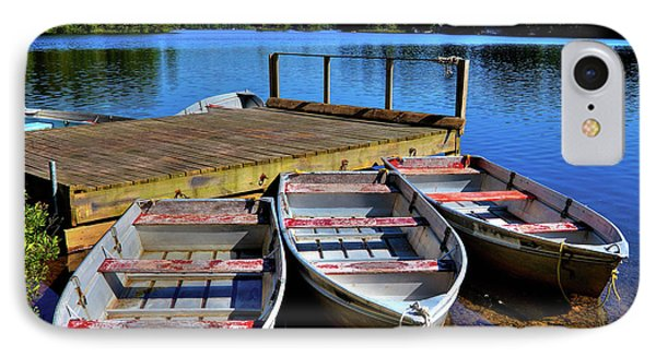 Three Rowboats IPhone Case by David Patterson