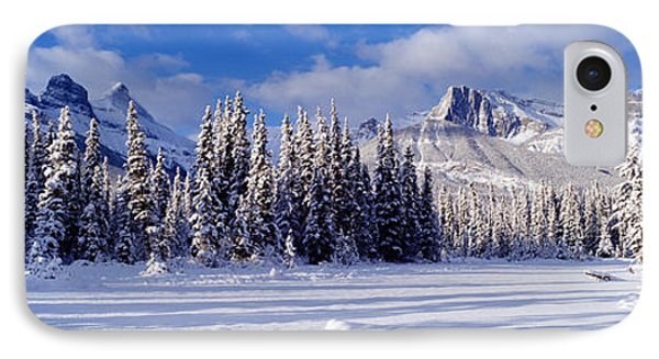 Three Sisters Bow Valley Kananaskis IPhone Case by Panoramic Images