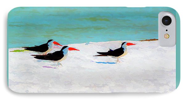 Three Skimmers IPhone Case by Marvin Spates