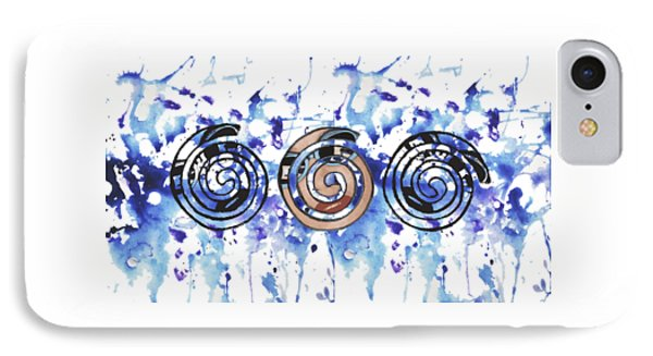 Three Spirals IPhone Case by Christine Perry