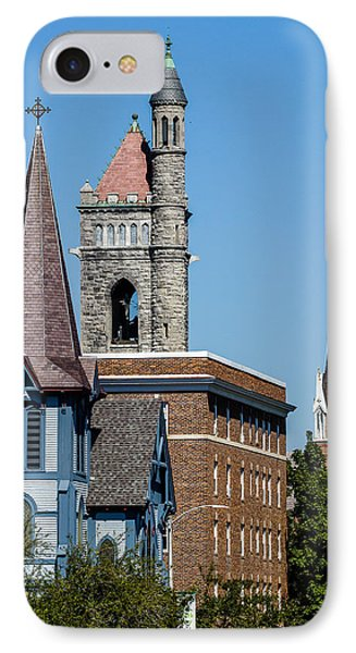 Three Steeples Of St Johnsbury Vermont IPhone Case by Tim Kirchoff