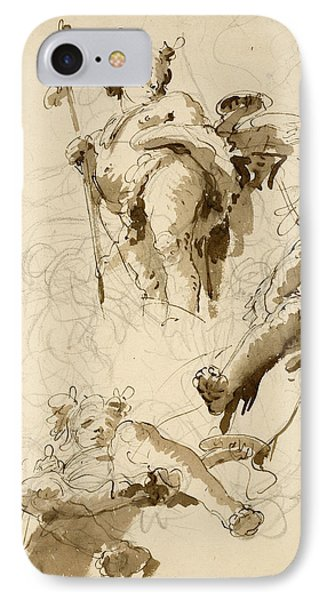 Three Studies Of The God Bacchus IPhone Case