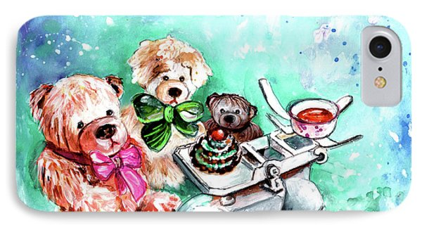 Three Teddy Bears And A Scale In Richmond IPhone Case by Miki De Goodaboom