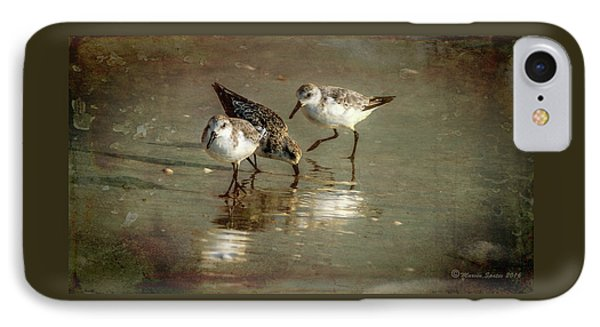 Sandpiper iPhone 7 Case - Three Together by Marvin Spates