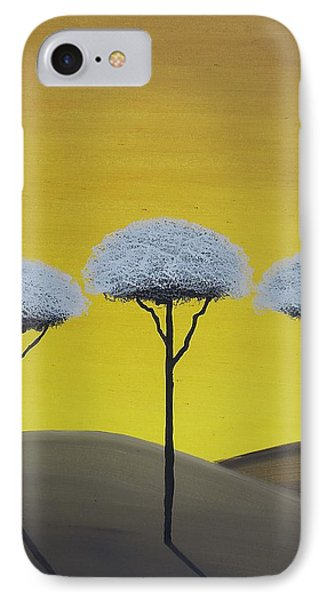 IPhone Case featuring the painting Three Trees  by Edwin Alverio