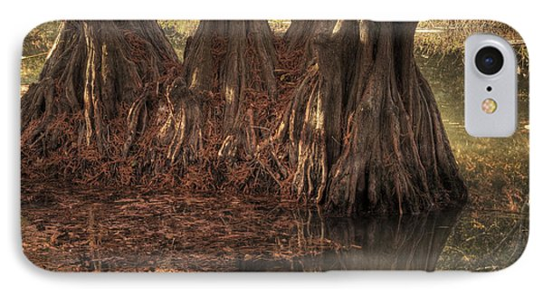 IPhone Case featuring the photograph Three Trees In Lake Murray by Tamyra Ayles