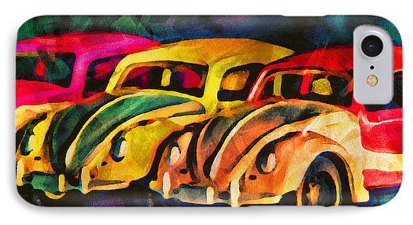 Three Volkswagens IPhone Case by Jeff  Gettis