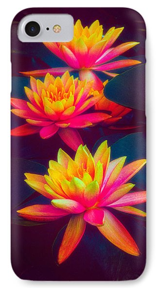 IPhone Case featuring the photograph Three Waterlilies by Chris Lord