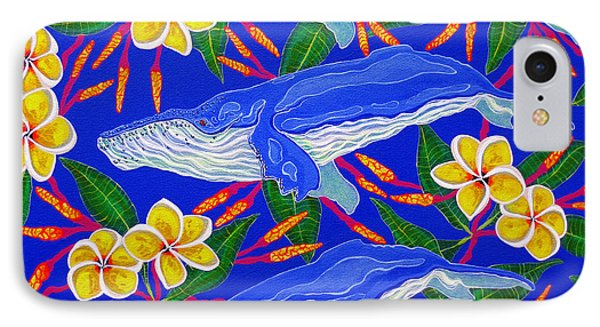Three Whales  IPhone Case by Debbie Chamberlin