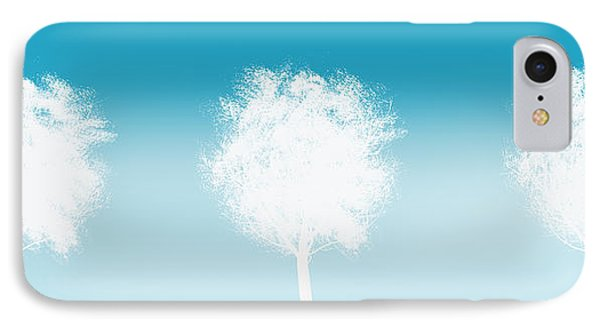 Three White Trees IPhone Case by Art Spectrum