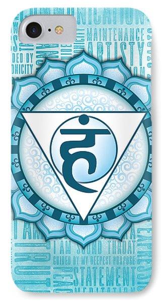 Throat Chakra - Awareness Phone Case by David Weingaertner