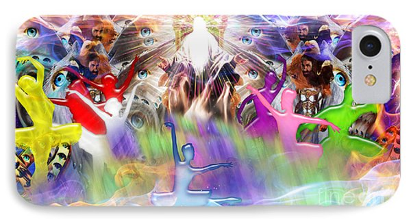 IPhone Case featuring the digital art Throneroom Dance by Dolores Develde