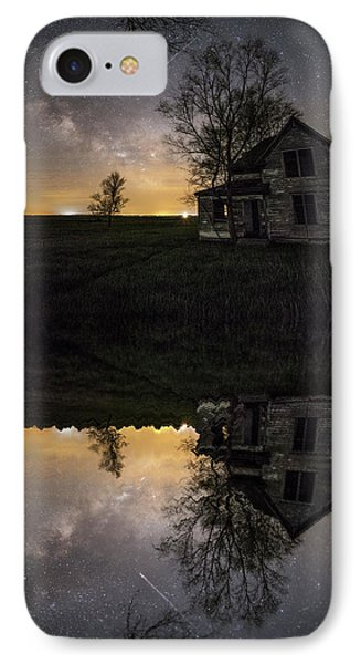 IPhone Case featuring the photograph Through A Mirror Darkly  by Aaron J Groen