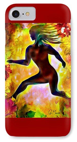 Through Autumn Leaves IPhone Case