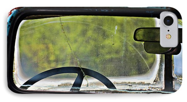 Through The Back Window- Antique Chevrolet Truck- Fine Art IPhone Case by KayeCee Spain