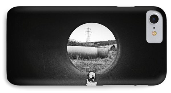 Through The Pipe IPhone Case by Keith Elliott