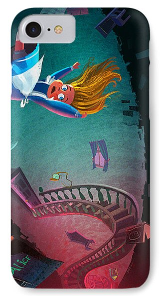 Fairy iPhone 7 Case - Through The Rabbit Hole by Kristina Vardazaryan
