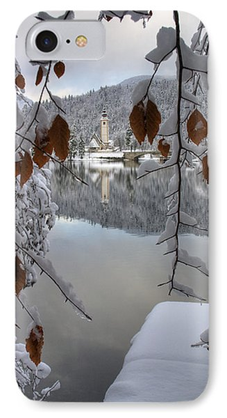 IPhone Case featuring the photograph Through The Snow Trees by Ian Middleton