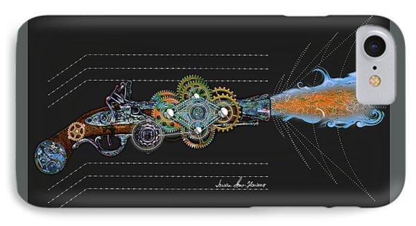 IPhone Case featuring the digital art Thunder Gun by Iowan Stone-Flowers