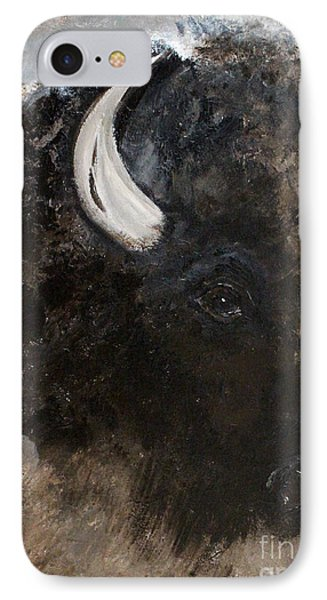 IPhone Case featuring the painting Thunder Medicine Cloud by Barbie Batson