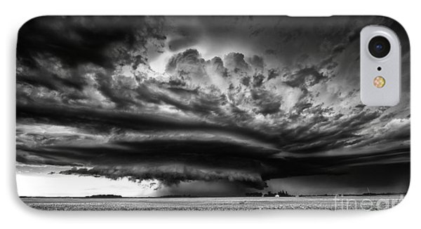 Thunder On The Prairies IPhone Case by Dan Jurak