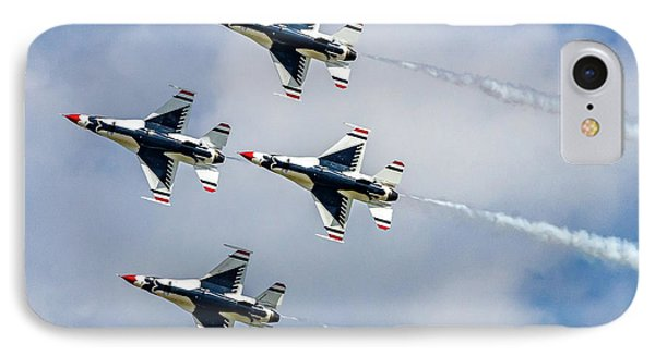 Thunderbirds In Formation IPhone Case by Bill Gallagher