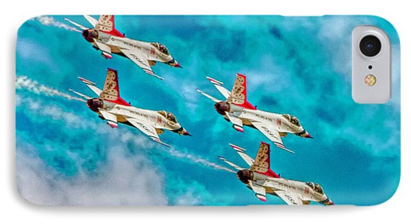Thunderbirds In Formation II IPhone Case by Bill Gallagher