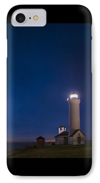 IPhone Case featuring the photograph Tibbets Point Light Night by Mark Papke