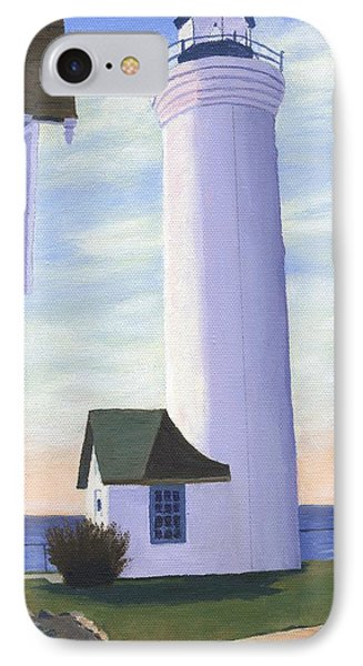 IPhone Case featuring the painting Tibbett's Point by Lynne Reichhart