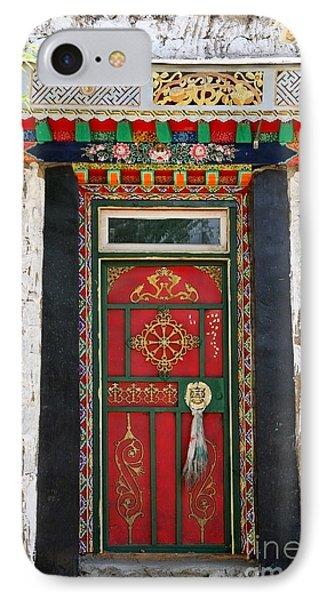 Tibet Red Door IPhone Case