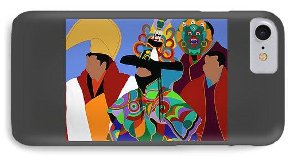 iPhone 7 Case - Tibetan Monks Cham Dancer by Synthia SAINT JAMES