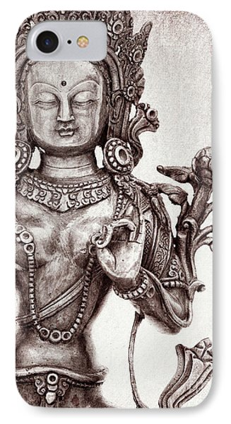 Tibetan Tara IPhone Case by Tim Gainey