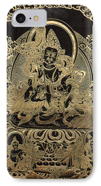 Tibetan Thangka - Vaishravana - God Of Wealth And Regent Of The North IPhone Case by Serge Averbukh