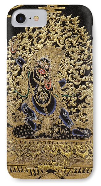 Tibetan Thangka - Vajrapani - Protector And Guide Of Gautama Buddha IPhone Case by Serge Averbukh