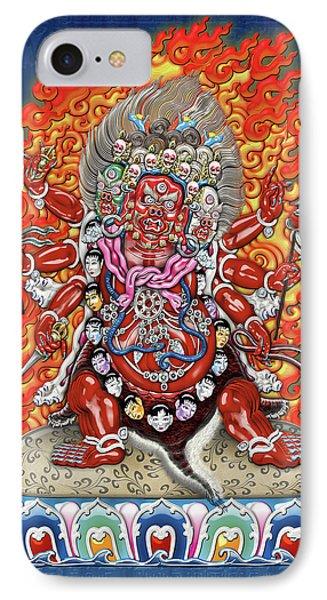 Tibetan Thangka  - Wrathful Deity Hayagriva Phone Case by Serge Averbukh
