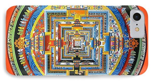 Tibetan Mandala - Red IPhone Case by Birgit Moldenhauer