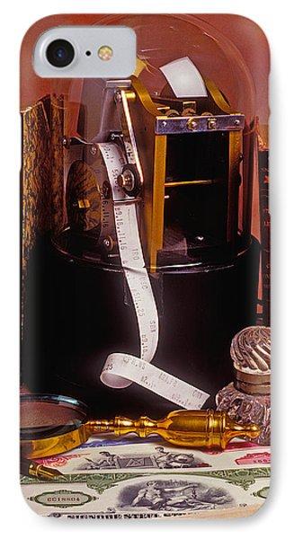Ticker Tape Machine IPhone Case by Garry Gay