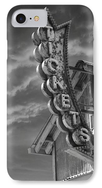 IPhone Case featuring the photograph Tickets Bw by Laura Fasulo