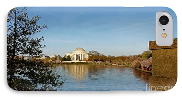 Tidal Basin And Jefferson Memorial IPhone Case by Megan Cohen