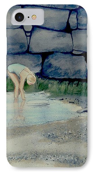 IPhone Case featuring the painting Tidal Pool Treasures by Anthony Ross