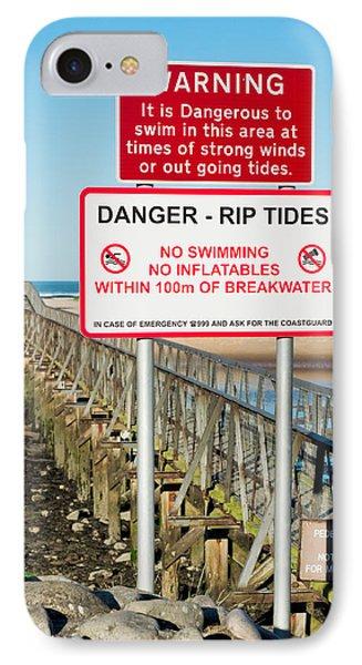 Tide Warning IPhone Case by Tom Gowanlock