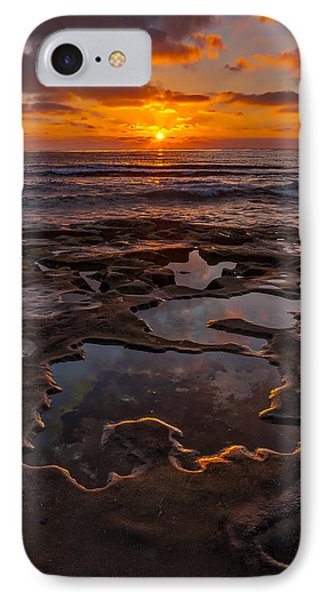 Tidepools At La Jolla IPhone Case by Peter Tellone
