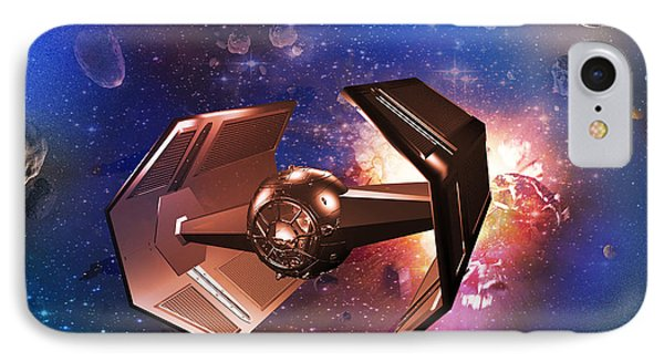 Tie-fighter IPhone Case by Mickey Clausen