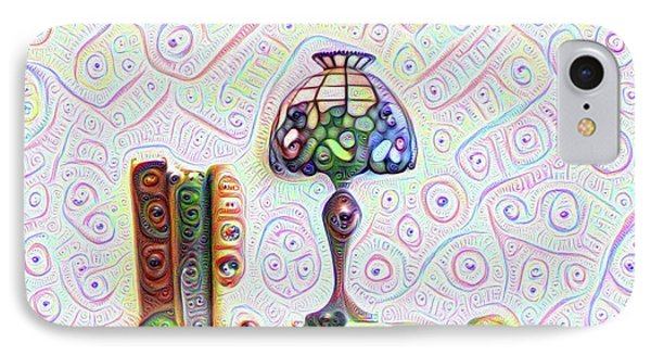 Tiffany Lamp IPhone Case by Bill Cannon