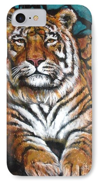 Tiger IPhone Case by Alga Washington