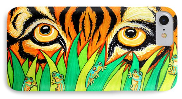 Tiger And Frogs IPhone Case