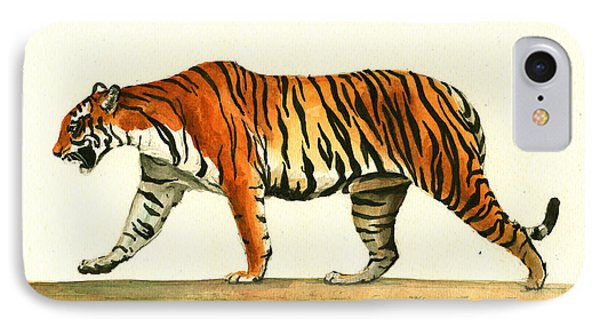 Tiger Animal  IPhone Case by Juan Bosco