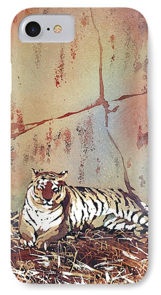 Tiger At Rest IPhone Case by Ryan Fox