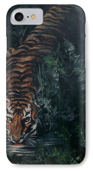IPhone Case featuring the painting Tiger by Bryan Bustard