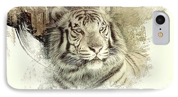 Tiger IPhone Case by Clare VanderVeen